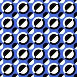 无缝的几何圈子样式设计背景-向量图形 向量例证