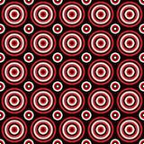 无缝的几何圈子样式设计背景-色的向量图形 库存例证