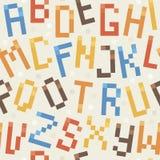 无缝的几何字体样式 免版税图库摄影