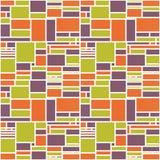 无缝的几何抽象五颜六色的样式 免版税库存图片