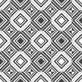 无缝的几何方形的栅格艺术样式背景 库存例证