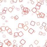 无缝的几何方形的背景样式-导航从正方形的例证与不透明作用 皇族释放例证
