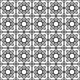 无缝的几何星形状样式背景 向量例证