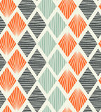 无缝的几何样式有rhombs装饰背景 皇族释放例证