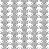 无缝的几何样式葡萄酒背景 免版税图库摄影