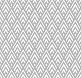 无缝的几何灰色和白色镶边菱形仿造背景 向量例证