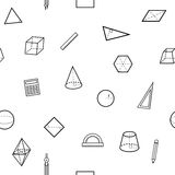 无缝的几何科学样式 免版税库存照片
