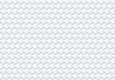 无缝的几何等量样式 3D白色背景 库存图片