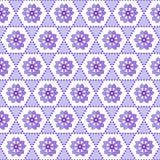 无缝的几何花卉背景样式紫色白色 库存例证