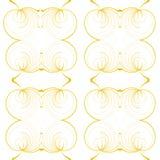 无缝的几何黄色圆的样式 免版税库存图片