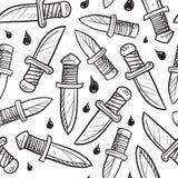 无缝的刀子向量背景 免版税库存图片