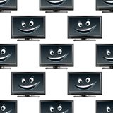 无缝的动画片lcd电视屏幕样式 库存照片
