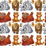 无缝的北美灰熊和崽 皇族释放例证