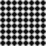 无缝的单色方形的样式 皇族释放例证