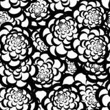 无缝的单色花卉样式 皇族释放例证