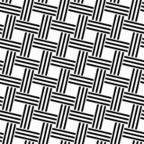 无缝的单色被编织的线样式 免版税图库摄影