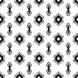 无缝的印地安样式传染媒介美国当地美式几何装饰品黑白背景设计减速火箭的葡萄酒bohemi 皇族释放例证