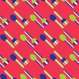 无缝的叉子和匙子样式 向量例证