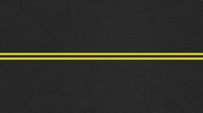 无缝的双线道路纹理图象 免版税图库摄影