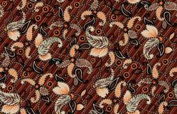 无缝的古色古香的佩兹利样式有橙色背景 皇族释放例证