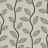 无缝的叶子墙纸样式 库存照片