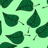 无缝的叶子 向量例证