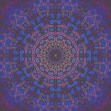 无缝的同心装饰品桃红色紫罗兰色紫色蓝色 免版税库存照片