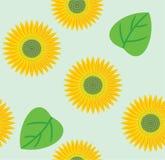 无缝的向日葵 免版税库存图片