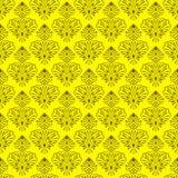 无缝的向量花卉墙纸 库存图片