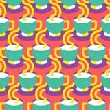 无缝的咖啡杯啪答声 免版税库存照片