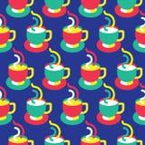 无缝的咖啡杯样式 向量例证
