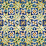 无缝的啪答声由传统azulejos瓦片制成 库存图片