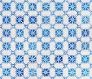 无缝的啪答声由传统azulejos瓦片制成 免版税库存图片
