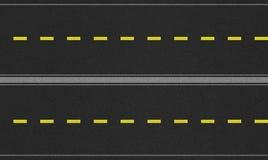 无缝的四车道的路纹理图象 免版税图库摄影