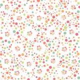 无缝的圆点样式 库存图片