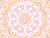 无缝的圆的装饰品桃红色黄色紫罗兰 免版税库存图片