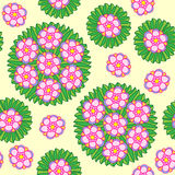 无缝的圆花卉样式 免版税库存照片