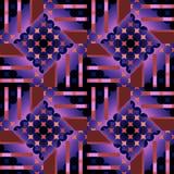 无缝的圈子、金刚石和条纹仿造紫罗兰色赤土陶器褐色紫色黑色 皇族释放例证