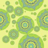 无缝的圈子样式绿色绿松石 皇族释放例证