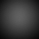无缝的圈子穿孔的碳格栅纹理 免版税库存照片