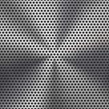 无缝的圈子穿孔的金属格栅纹理 免版税库存图片