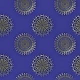 无缝的圈子装饰银灰色紫色发光 库存照片