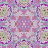 无缝的圈子装饰紫罗兰色紫色绿色 库存图片