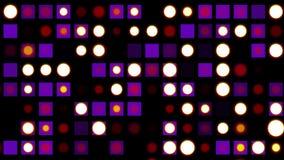 无缝的圈迪斯科墙壁点燃眨眼睛动画背景-新的质量普遍行动动态生气蓬勃五颜六色 向量例证