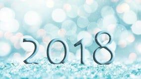 无缝的圈- 2018年在雪, bokeh背景,落的雪, HD录影 股票视频