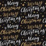无缝的圣诞快乐样式 免版税图库摄影