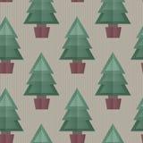 无缝的圣诞树背景 图库摄影