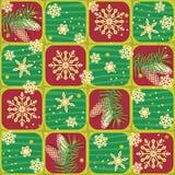 无缝的圣诞节、冬天或者新年样式 免版税库存照片