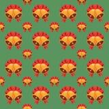 无缝的圣诞节传染媒介例证背景 免版税库存照片