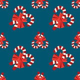 无缝的圣诞节传染媒介例证背景 库存照片